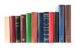 Livros em uma fileira foto de stock royalty free