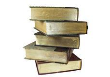 Livros empilhados velhos fotografia de stock