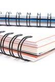 Livros espirais Fotografia de Stock