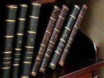 Livros franceses antigos Foto de Stock Royalty Free