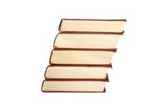 Livros isolados no branco Imagens de Stock