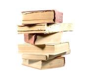 Livros isolados no branco imagens de stock royalty free