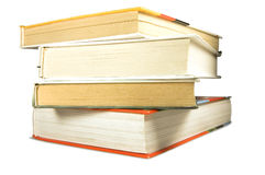 Livros isolados no fundo branco Imagem de Stock
