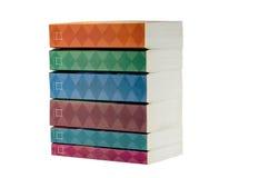 Livros isolados no fundo branco, livro de texto Imagens de Stock Royalty Free