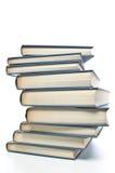 Livros Jaggedly empilhados Imagem de Stock Royalty Free