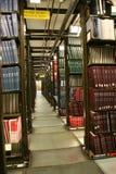 Livros na biblioteca de universidade Fotos de Stock Royalty Free