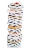 Livros na embalagem do presente isolada em um branco imagem de stock royalty free