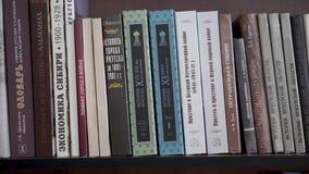 Livros na prateleira Biblioteca escolar filme