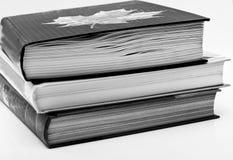 Livros na tabela Fotografia de Stock