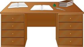 Livros na tabela ilustração do vetor
