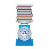 Livros nas escalas Foto de Stock Royalty Free