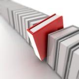 Livros no branco Imagens de Stock Royalty Free