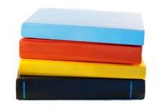 Livros no fundo branco Fotos de Stock