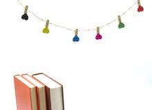 Livros no fundo branco Fotografia de Stock