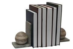 Livros no suporte do auto do livro Imagem de Stock