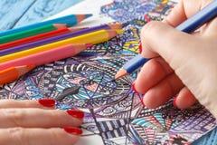Livros para colorir adultos Fotos de Stock