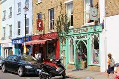 Livros para cozinheiros em Notting Hill Foto de Stock Royalty Free