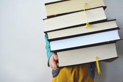 Livros pesados foto de stock