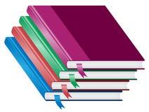 Livros, pilha de quatro livros empilhados Fotografia de Stock
