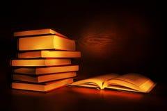 Livros pintados luz Foto de Stock Royalty Free