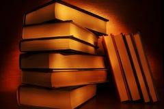 Livros pintados luz Imagens de Stock Royalty Free