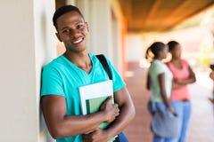 Livros pretos da estudante universitário Imagens de Stock