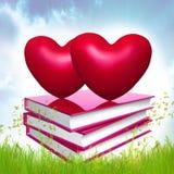 Livros sobre o amor Imagens de Stock