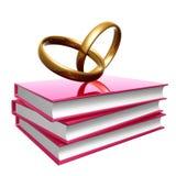 Livros sobre o casamento e o amor Imagem de Stock
