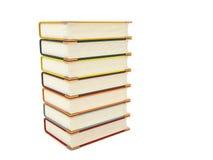 Livros tridimensionais do pileup fotografia de stock
