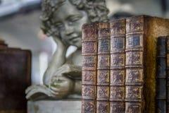 Livros velhos com anjo imagem de stock