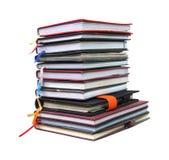 Livros velhos do diário no fundo branco Imagem de Stock Royalty Free