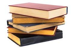 Livros velhos em pastas gastos imagem de stock