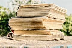 Livros velhos no dia Imagens de Stock