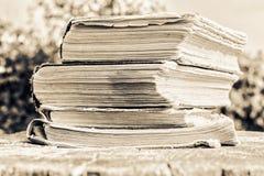 Livros velhos no dia ensolarado Imagens de Stock Royalty Free