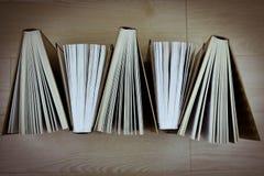 Livros velhos Vista de acima imagem de stock