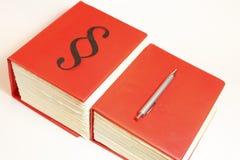 Livros vermelhos Imagens de Stock Royalty Free