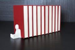 Livros vermelhos Fotografia de Stock