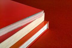 Livros vermelhos Fotos de Stock Royalty Free