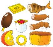 Livsmedel vektor illustrationer