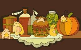 livsmedelrodenthylla stock illustrationer