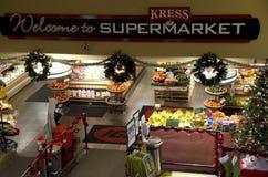 Livsmedelsbutik i stadens centrum Seattle Arkivbild