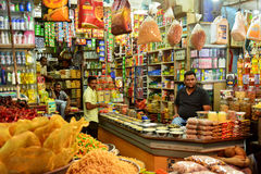 Livsmedelsbutik Indien Arkivbilder