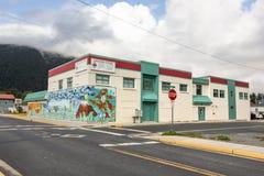 Livsmedelsbutik på i stadens centrum Sitka Arkivfoto