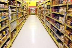Livsmedelsbutikgång Arkivfoto