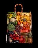 Livsmedelsbutikhandväska Arkivbild