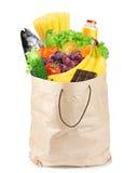 Livsmedelsbutikpåse med sund mat Royaltyfri Fotografi