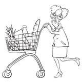 Livsmedelsbutikshopping Arkivbild