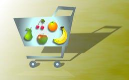 livsmedelsbutikshopping stock illustrationer