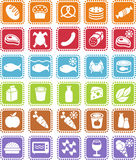 livsmedelsbutiksymboler royaltyfri illustrationer