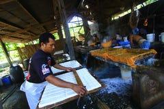 Livsmedelsförädlingbransch av sojabönaingredienser Fotografering för Bildbyråer